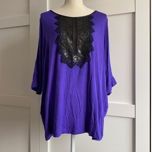 Michel Studio - Royal Purple Top